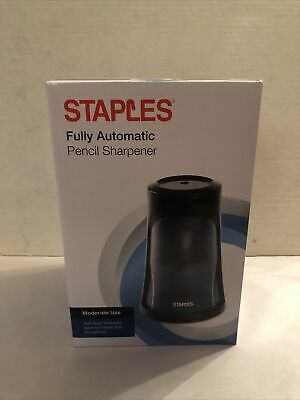 Staples Fully Automatic Electric Pencil Sharpener Black 51498