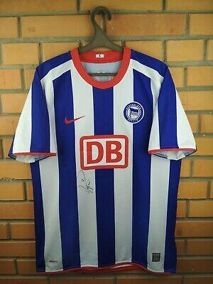 Hertha BSC autograph jersey medium 2008 2009 home shirt soccer football Nike image