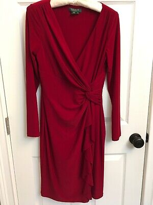 LAUREN Ralph Lauren Red Holiday Cocktail Dress Sz 8