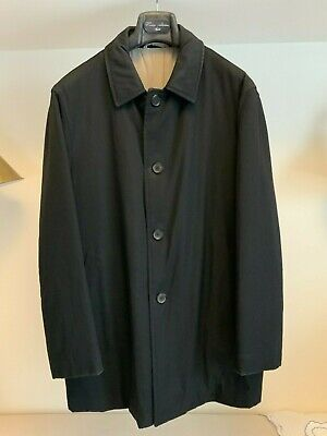 Luigi Borrelli Men's Black Coat Jacket EU50 Medium - NICE!!