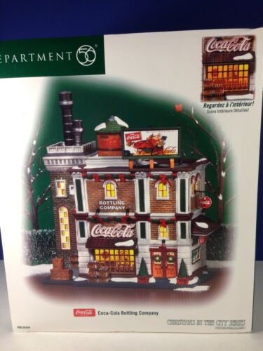 Dept 56 CIC Christmas in the City COCA COLA BOTTLING COMPANY 56.59258 Brand New!
