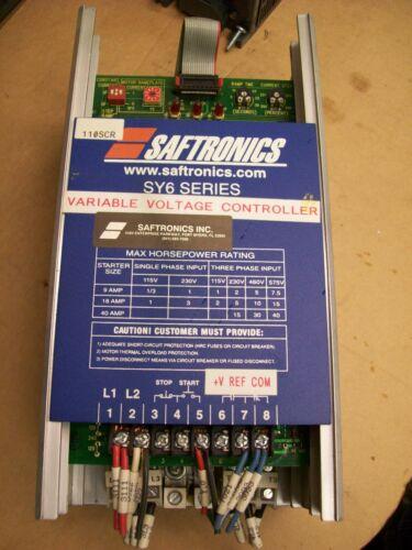 SAFTRONICS SY6H-18 MOTOR STARTER VARIABLE VOLTAGE CONTROLLER
