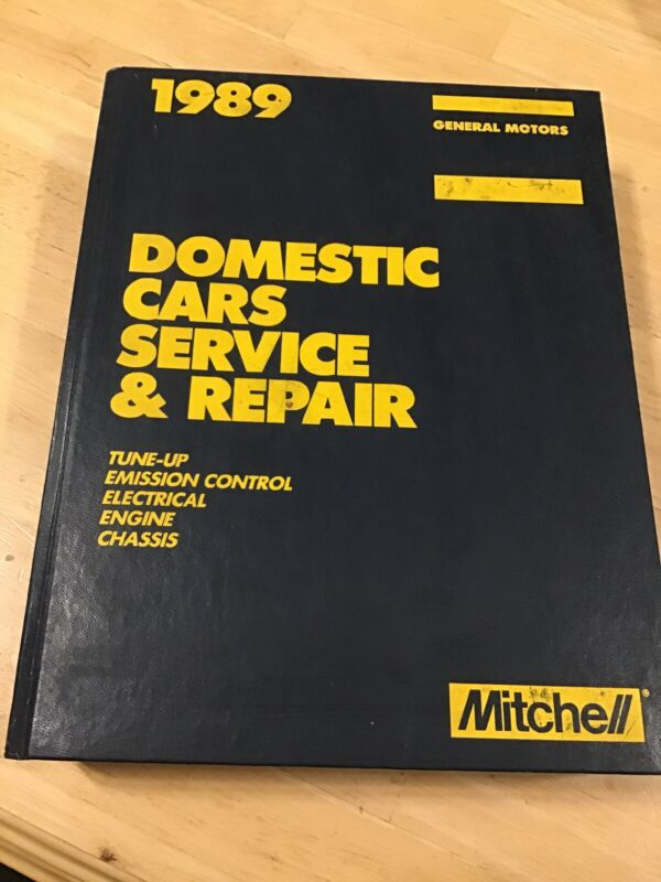 MITCHELL 1989 Domestic CARS SERVICE & REPAIR - Tune-Up, Emission Control, Engine