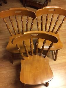 Solid wood side counter chairs