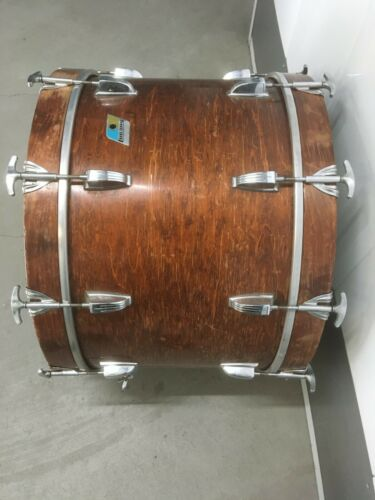 VINTAGE 1970 LUDWIG 14X22 THERMOGLOSS VIRGIN BASS DRUM.  NICE!