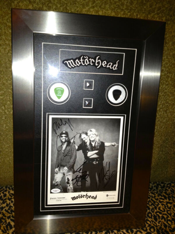 MOTORHEAD custom framed signed autographed promo LEMMY guitar pick JSA COA Metal
