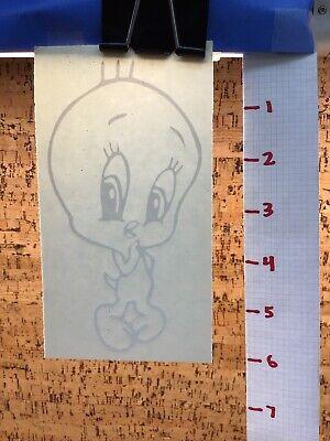 Tweety Bird Cute Shy  -  White     -  Vinyl Transfer Decal - Y7-1.47 Tweety Bird Vinyl