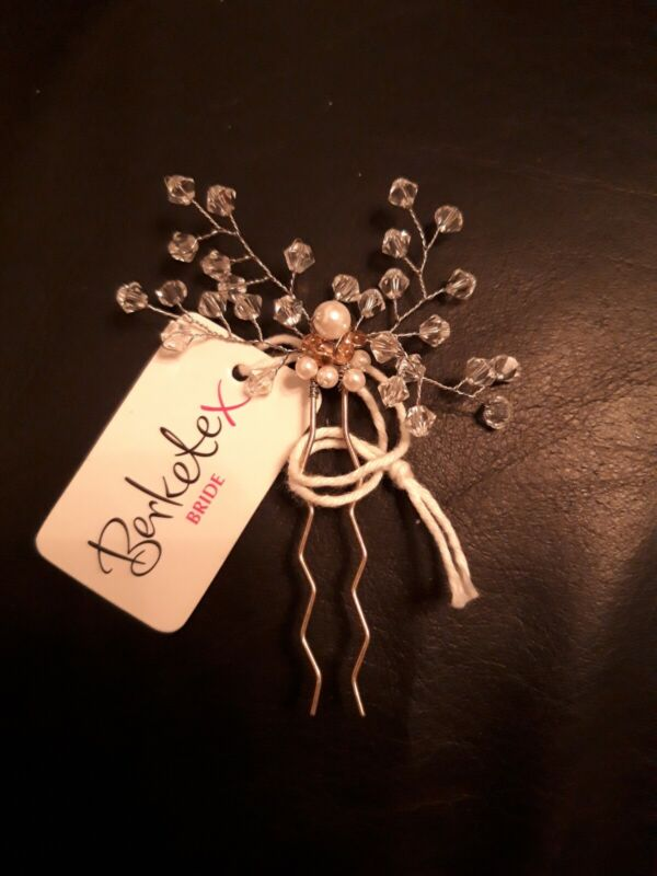 Bridal+Hair+Clip%2C+Crystal+and+Pearl.+From+Berketex+Bride.+New+With+Tag.