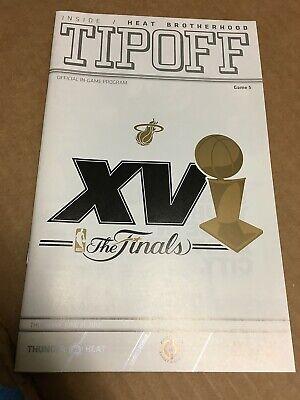 MIAMI HEAT 2012 NBA CHAMPIONSHIP PROGRAM FINALS GAME 5 LEBRON JAMES DWYANE WADE