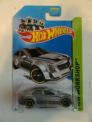 2013 Hot Wheels HW Workshop #152 Cadillac CTS-V (Gray) Kmart Exclusive
