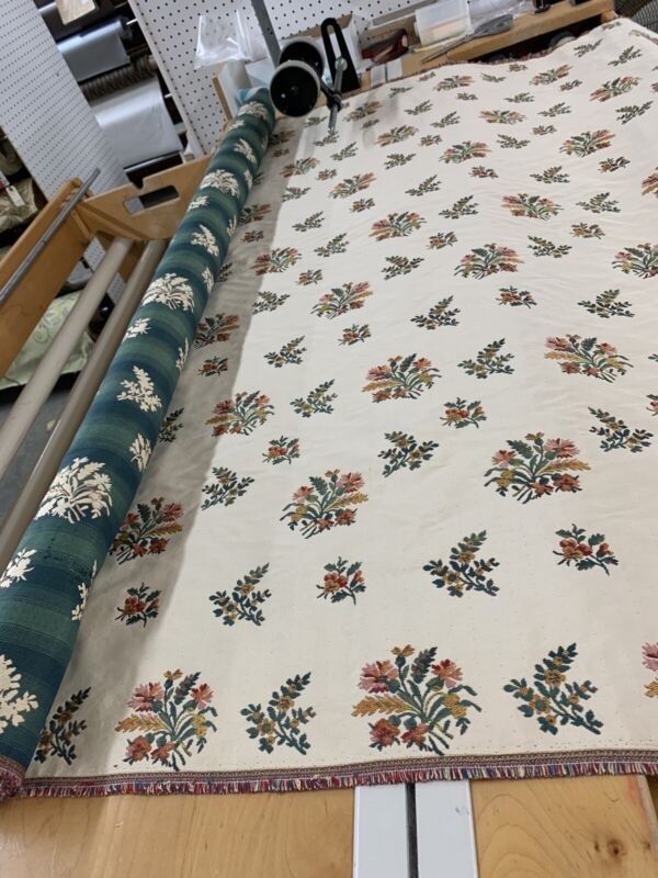 """Floral Woven/ Needlepoint / Railroaded/ Upholstery Fabric 54""""by The Yard"""