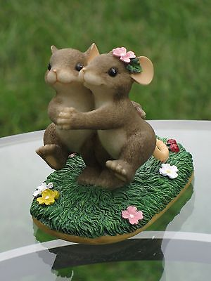 """Charming Tails Mouse Couple Dance It Takes 2 Tango Love Fitz Floyd 84/105 3""""H"""