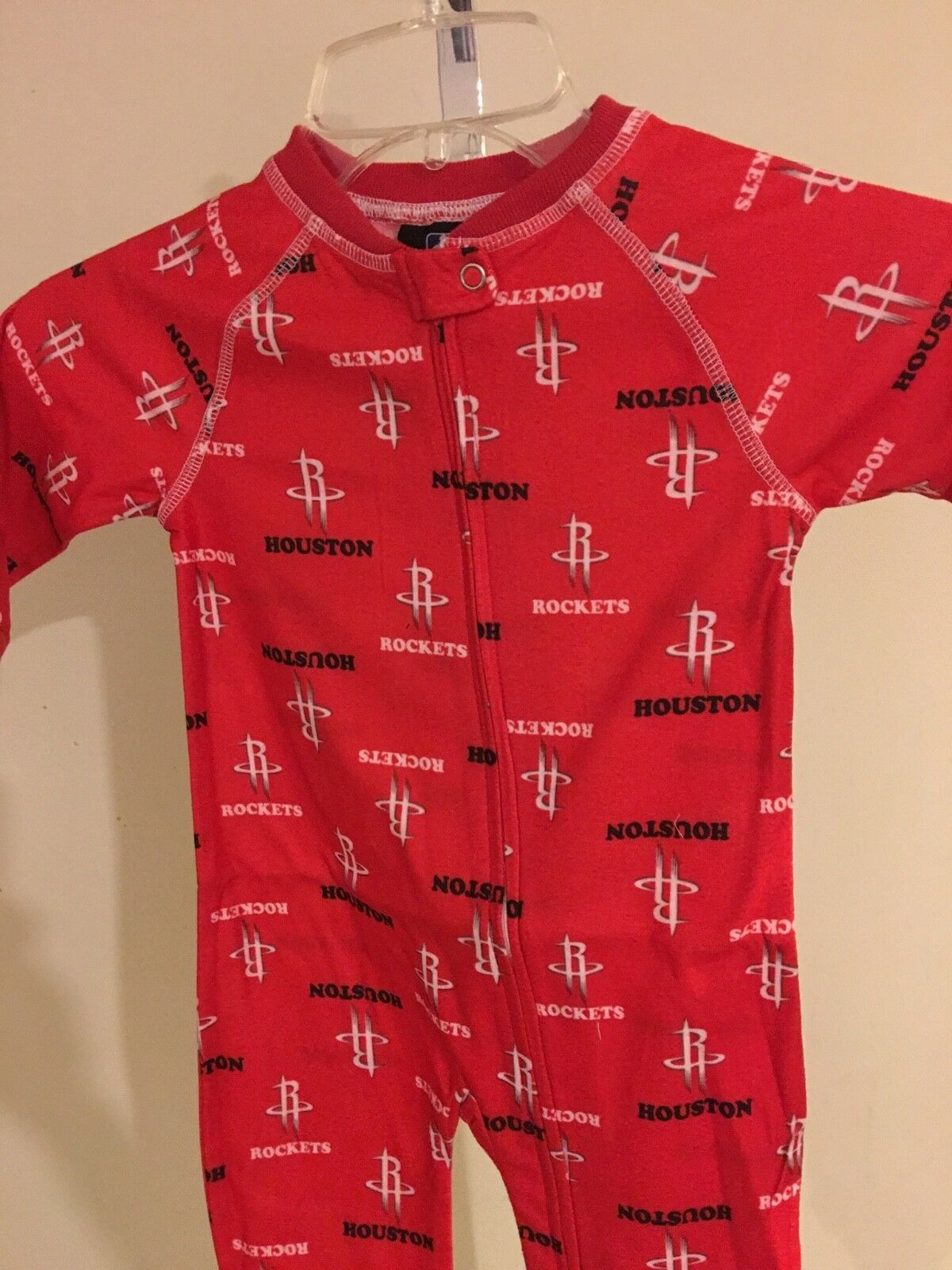 OuterStuff NBA Houston Rockets Infant Print Zip Up Coverall
