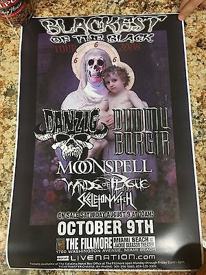 Blackest of the Black Tour Poster Fillmore Miami Danzig Dimmu Borgir