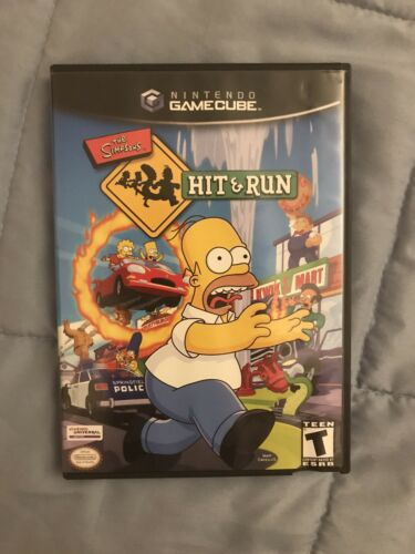 The Simpsons Hit Run For GameCube Case, Manual Disc Included FREE SHIPPING - $56.00