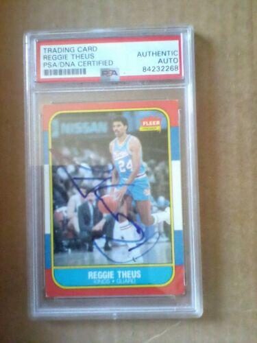 Reggie Theus Autographed Signed Auto 1986 Fleer Card #108 Kings PSA/DNA 83796057