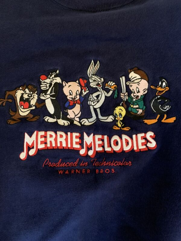 Vintage 90s Looney Toones Merrie Melodies Bugs Bunny Sweatshirt Medium