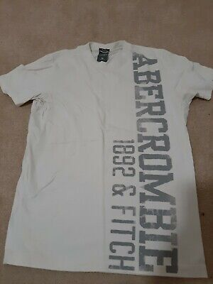 Abercrombie Fitch Mens Tshirt.  Med. White Muscle. Large Logo On Front.SS....
