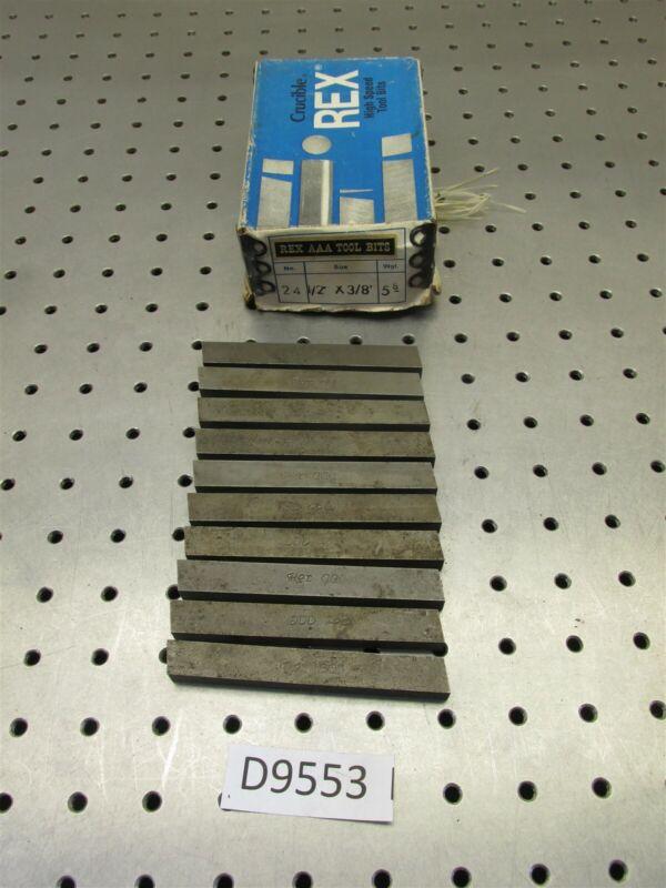 """10 Pc HSS Crucible Rex AA Tool Bit 1/2"""" X 3/8"""" X 4"""" Rectanglar - - - D9553"""