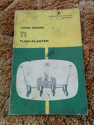 John Deere 71 Flexi Planter Operators Manual Om-b2525o