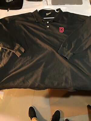 Ohio State Collared Shirt 3 Button. Long Sleeve Polo Style Shirt 6XL Free Ship State Long Sleeve Polo