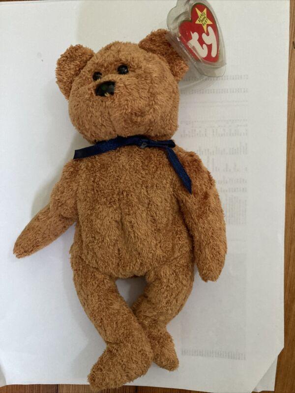 Fuzz The Bear Beanie Baby  1998