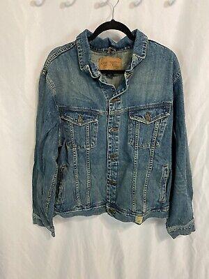 Abercrombie & Fitch Trucker Jean Jacket Mens XL Vintage Distressed AF Workwear