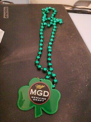 Miller Lite Shamrock / St. Patrick's Day Mardi Gras Beads / Necklace](St Patrick's Day Beads)