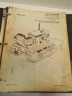 Case 310g Crawler Dozer Parts Catalog A984 Circa Oct 1969