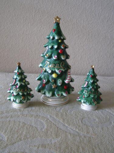 1957 LEFTON 3PC CERAMIC CHRISTMAS TREE HORS D