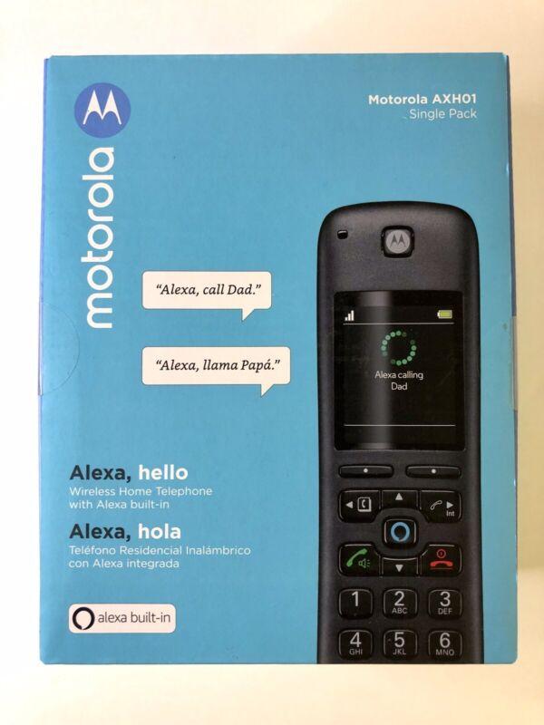 Motorola AXH01 Smart Wireless Expandable Home Telephone w/ Built-in Alexa - NEW