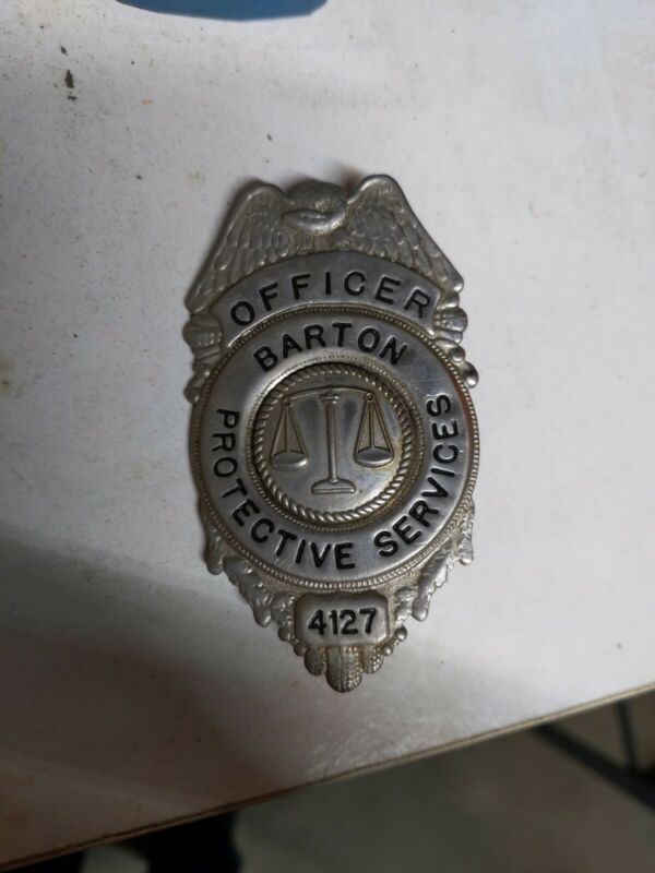 Barton Protective Services Officer 4127 Metal Badge