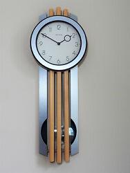 HERMLE MODERN BEECH WOOD PENDULUM WALL CLOCK
