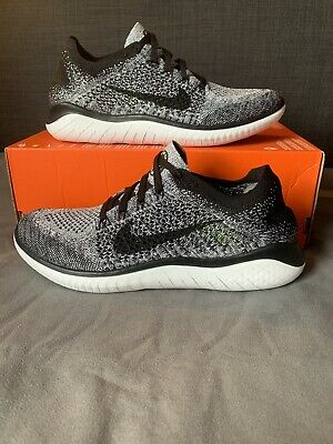 Men's Official Nike Free Run Flyknit: Oreo (Grey, Black & White): Size 7