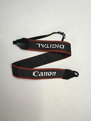 Canon EOS Digital Camera Neck Strap Black with Red & White Stitch