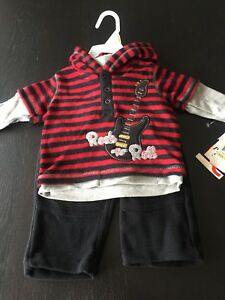 Brand new 2-piece Rock n' Roll Outfit - 3-6 months