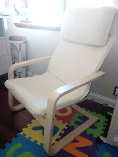 Super Comfy Cream Cushioned Timber Frame Chair