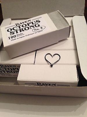 Size 4 Raven Octopus Hooks 100 Ct Box