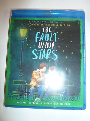 The Fault in Our Stars Blu-ray & DVD 2-Disc Set teen drama movie John Green NEW!