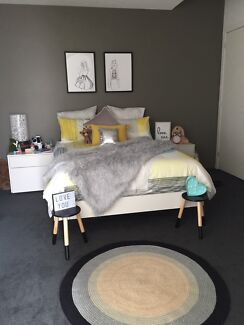 FURNITUREQUEEN BED PLUS MATCHING SIDE TABLES Beds Gumtree - Bedroom furniture geelong