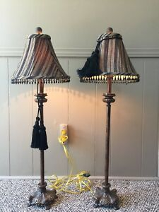 Matching antique look table lamps