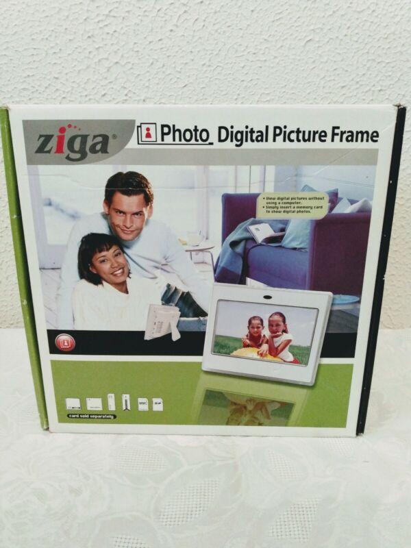"Ziga 7"" Digital Photo Picture Frame LCD Screen Clock Video 12 Mega Pixels"