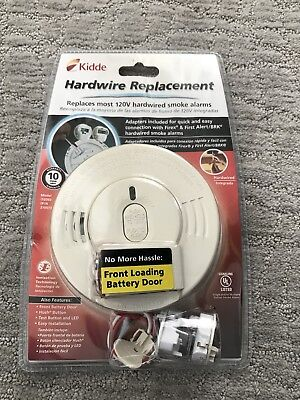 New Sealed Kidde Hardwire 120V Replacement Interconnectable Smoke Alarm +Battery