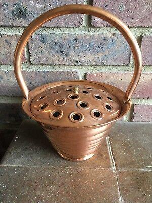 Vintage Villedieu French Copper Posy Vase