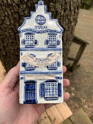 "Vintage Delft Porcelain Holland House Hand Painted P. Hoppe 6"" with Top"