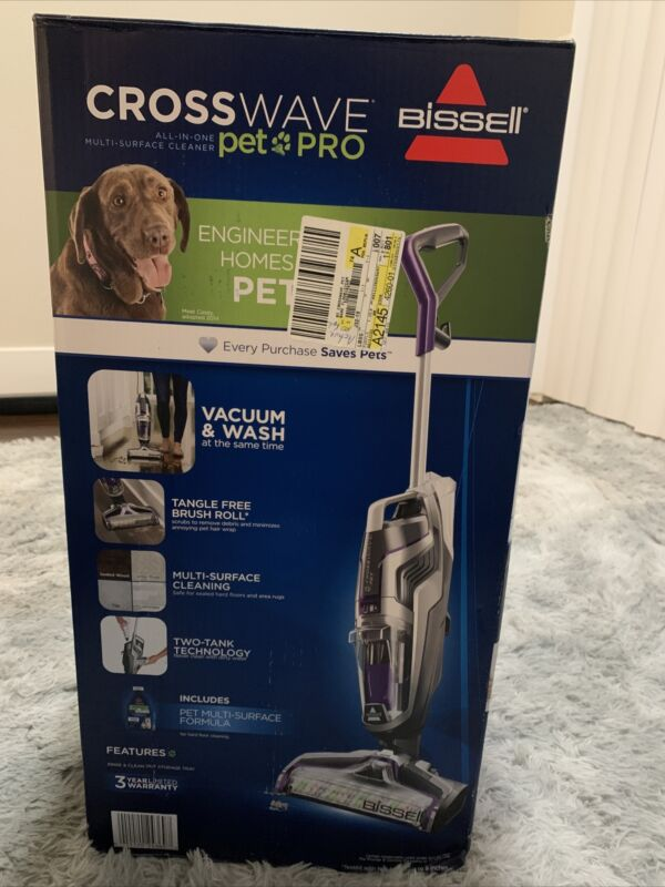 NEW! Bissell Crosswave Pet Pro All in One Wet Dry Vacuum Cleaner 2328 FreeShip*