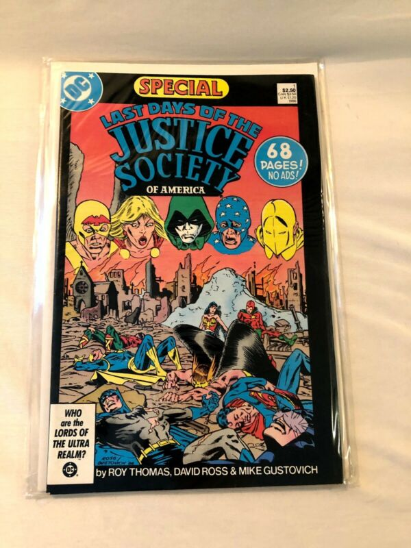 Last Days of the Justice Society of America Special #1 1986 DC JSA Excellent