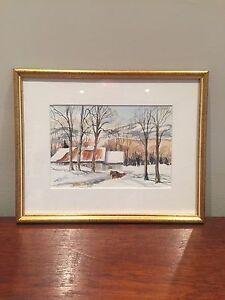 Eastern Townships Winter Water Colour