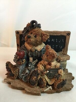 "Boyds Bears Figurine ""MISS BRUIN & BAILEY"" THE LESSON -#2259 - 28E/1634- 1994"