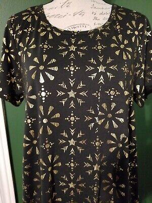 75ae6da0 LuLaRoe Carly Large L BLACK & GOLD hi low Dress NWT elegant collection  lovely